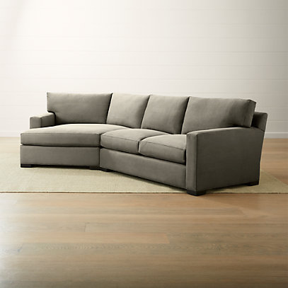 Axis II Grey Left Arm Angled Chaise Sectional + Reviews | Crate .