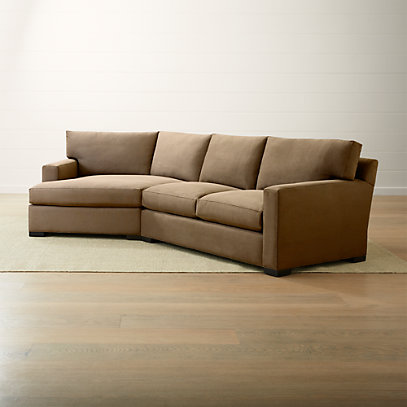 Axis II Coffee Left Arm Angled Chaise Sectional + Reviews | Crate .