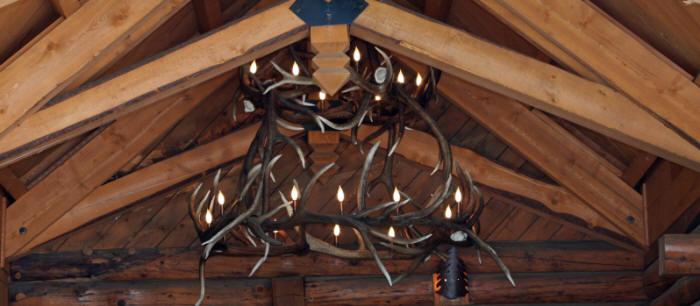 Elk antler chandeliers and lighti