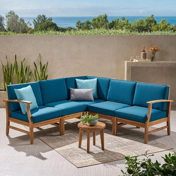 Outdoor Teak Sectional Sofa | Wayfa