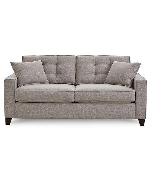 "Furniture Clarke II 75"" Fabric Apartment Sofa, Created for Macy's ."