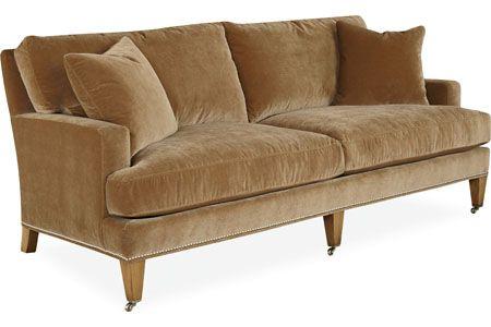 Lee Industries: 3063-11 Apartment Sofa | Cushions on sofa .