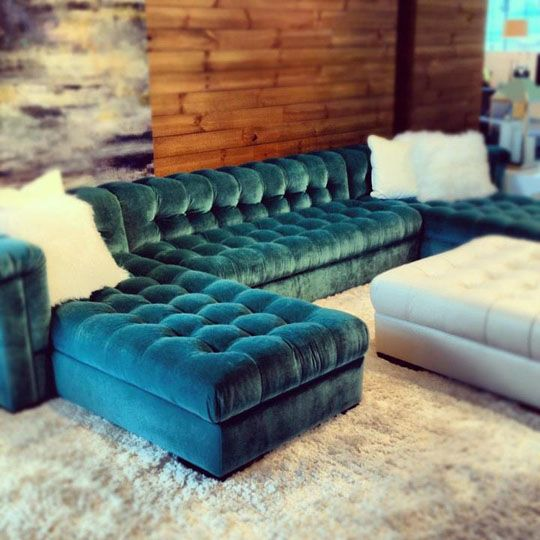Mother huge chesterfield sofa in great aqua color and with nice .