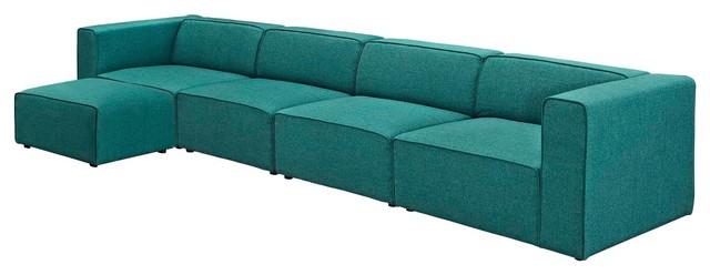 Modern Contemporary Urban Living Sectional Sofa Set, Fabric .