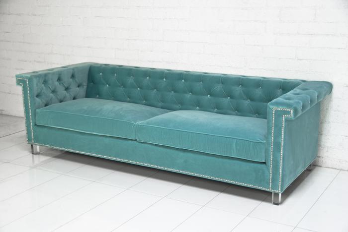 www.roomservicestore.com - Sinatra Sofa in Aqua Velv