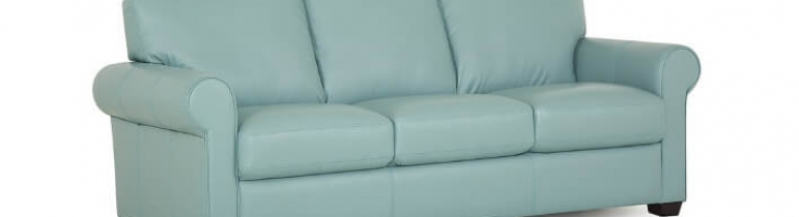 baby-blue-aqua-color-genuine-leather-sofa-1 - Be Seated Leather .