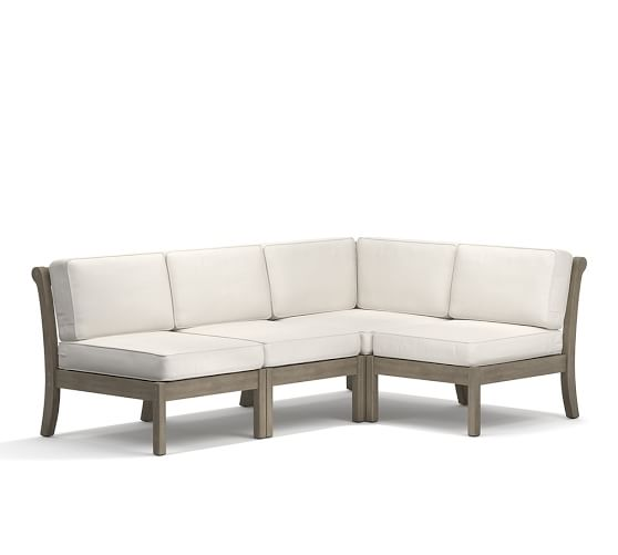 Chatham Armless Outdoor Sectional Set, Gray | Pottery Ba
