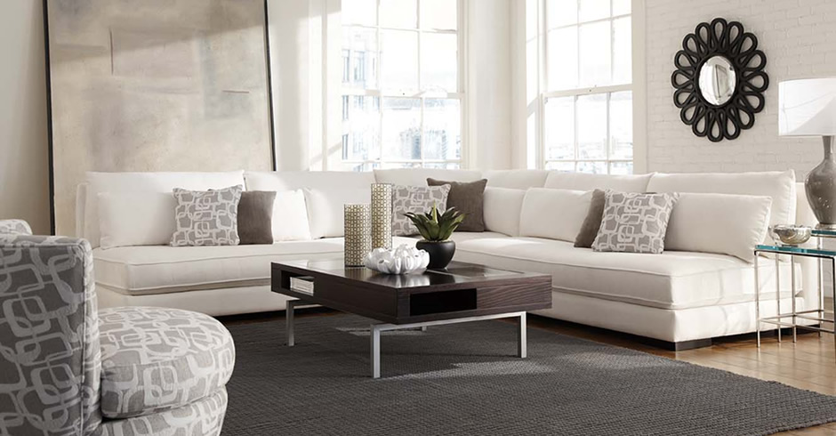 Modern armless sectional Chill 62509 expensive Younger living room .