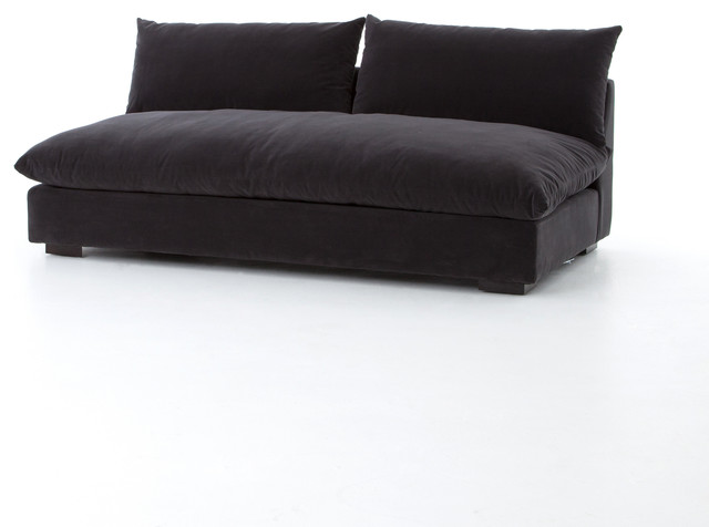 "72"" L Maica Armless Sofa Henry Charcoal Sectional Sofa 100 ."