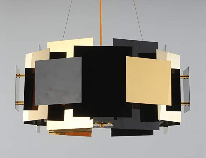 iShu Art Deco Chandelier Stainless Steel Light Luxury Chandelier .