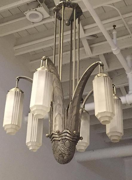 1 of a kind | Art deco chandelier, Art deco lighting, Art deco lam