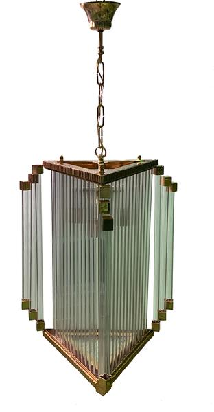 Luxe Brass And Glass Tubes Prism French Art Deco Chandelier – Le .