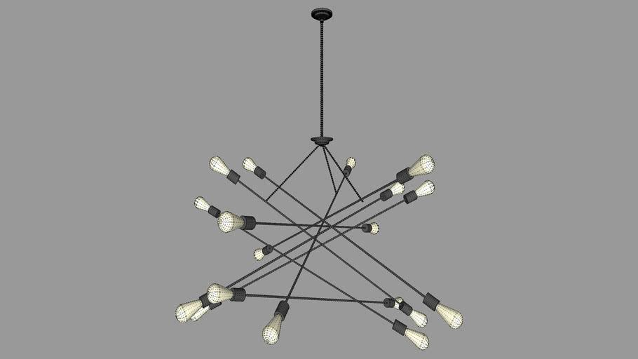 Atom Chandelier Lg | 3D Warehou