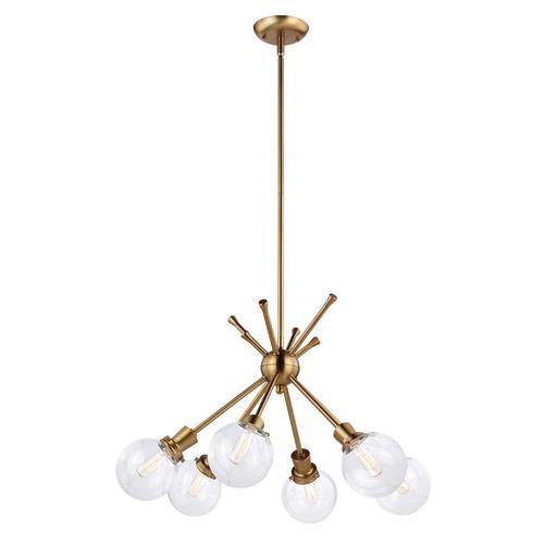 Patriot Lighting® Atom Golden 6-Light Chandelier at Menards