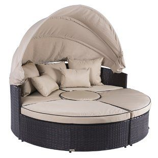 Beachcrest Home Aubrie Patio Daybed with Cushions | Wayfair in .