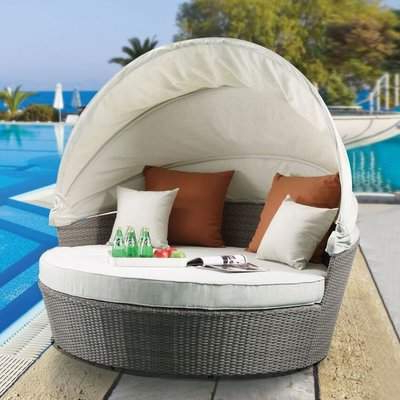 Image Gallery of Aubrie Patio Daybeds With Cushions (View 13 of 20 .