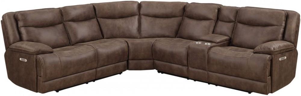 Sale Morrisofa Austin 3PC Sectional Sofa in Tobacco MNY2399-3PC .