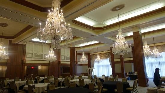 Baccarat Chandeliers (each weigh 1,000 pounds) in Ballroom. Ten .