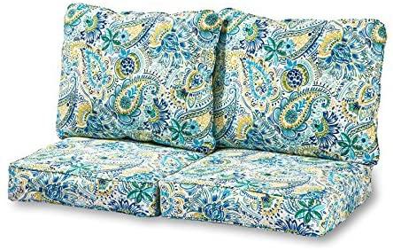 Amazon.com : Greendale Home Fashions Deep Seat Loveseat Cushion .