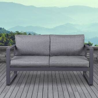 Baltic Patio Sofa with Cushions | Outdoor loveseat, Love seat .