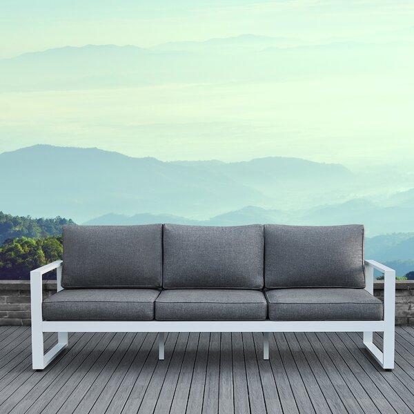 Real Flame Baltic Patio Sofa with Cushions & Reviews | Wayfa