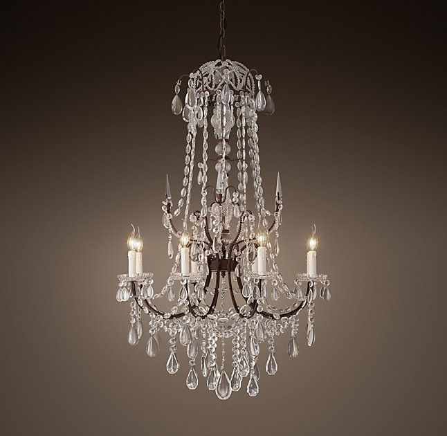 "19th C. Baroque Chandelier 32"" (With images) 