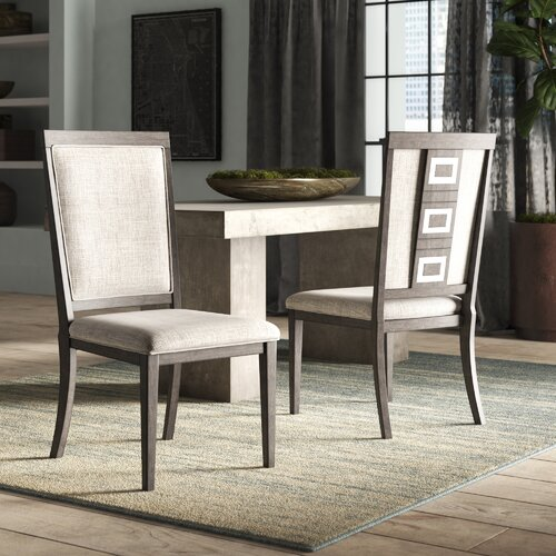 World Menagerie Barr Upholstered Solid Wood Side Chair & Reviews .
