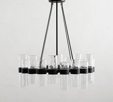 Penni Glass Chandelier #potterybarn | Glass chandelier, Chandelier .
