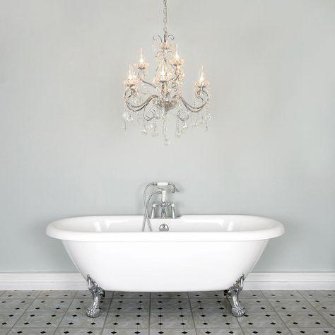 Beautiful Chandelier Bathroom Lighting Ideas | Bathroom chandelier .
