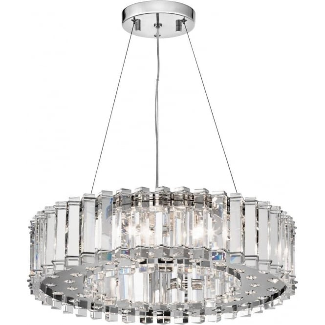 Crystal Chandelier Safe for Bathroom Use in Zone 1 and 2, IP44 Rat