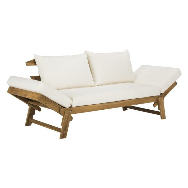 Beal Patio Daybed with Cushions in 2020 | Patio daybed .