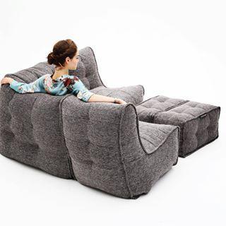 Outdoor Satellite Twin Sofa | Bean Bag Couch | Bean Bags Australia .