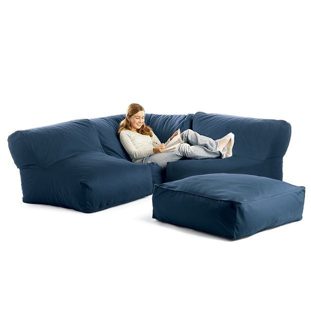 bean bag sectional sofa   Low couch, Chill out room, Cozy furnitu
