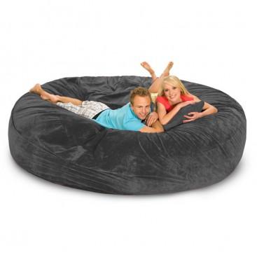 Relax Sack 8' Bean Bag Sofa / Bed - Charcoal - BeanBagTown.c