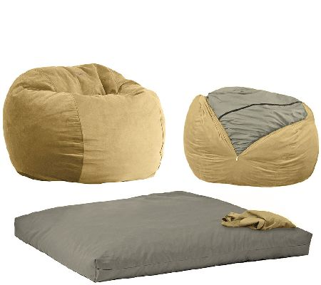 CordaRoy's Full Size Convertible Bean Bag Chair by Lori Greiner .