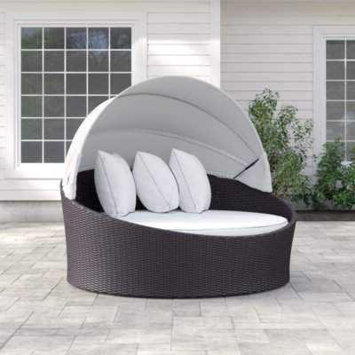 2020 Popular Behling Canopy Patio Daybeds With Cushio