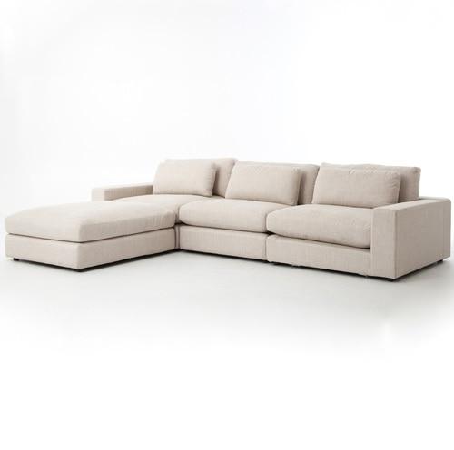 Bloor Beige Contemporary 5 Piece Corner Sectional Sofa | Zin Ho
