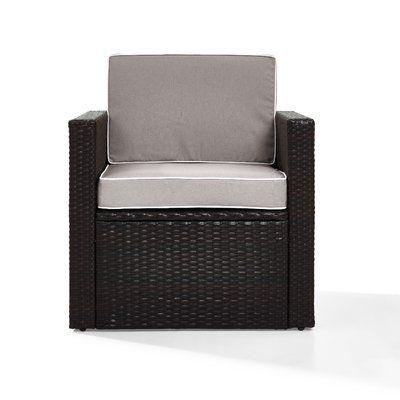 Mercury Row Belton Outdoor Wicker Deep Seating Patio Chair with .
