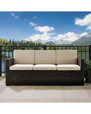 Amazing Sales: Mercury Row Belton Patio Sofa with Cushions .