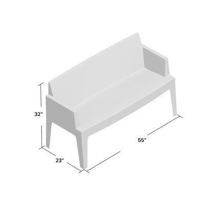 Mercury Row Bence Plastic Outdoor Garden Bench Color: (With images .