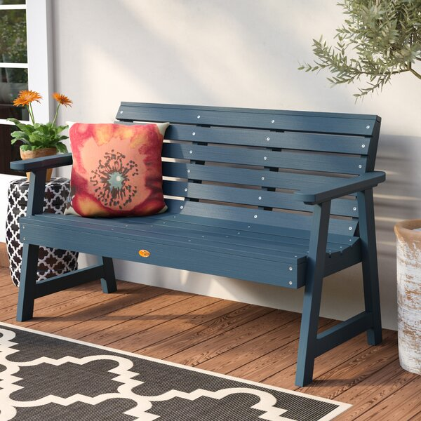 Darby Home Co Trigg Synthetic Plastic Garden Bench & Reviews | Wayfa