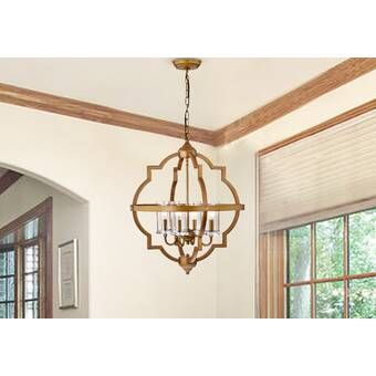 Bennington 6 - Light Candle Style Geometric Chandelier in 2020 .