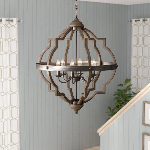 Bennington 6-Light Candle Style Farmhouse Chandelier - Farmhouse .