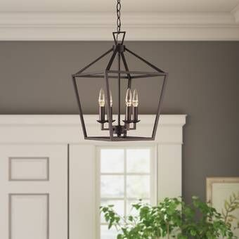 Bennington 6 - Light Lantern Geometric Chandelier | Lantern .
