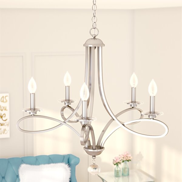 Berger 5 Light Candle Style Chandeliers