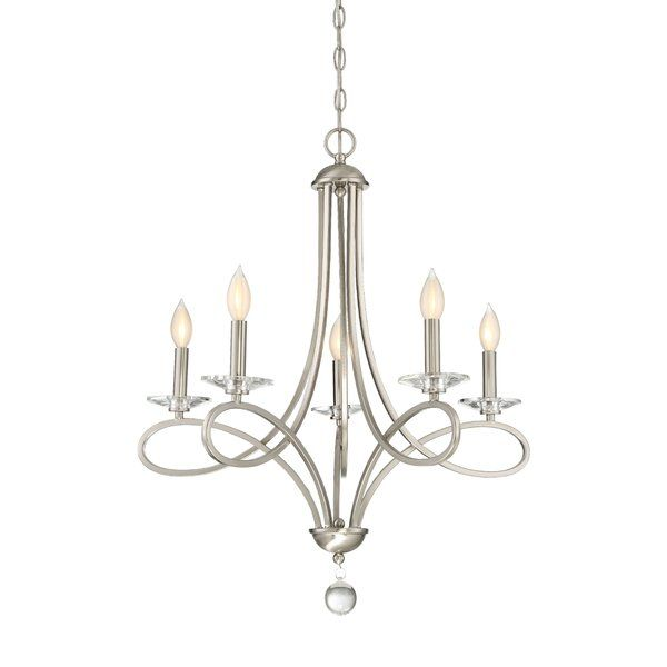 Elise 5-Light Candle-Style Chandelier | Luminaires salle a manger .