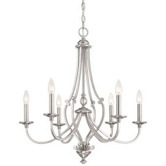 Berger 5-Light Candle Style Classic/Traditional Chandelier (With .