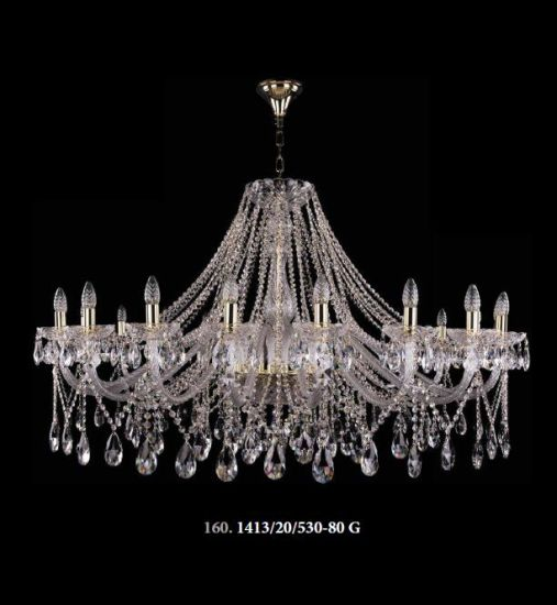 China Good Quality Crystal Hotel Project Big Chandeliers (1413/20+ .