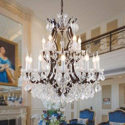 Loft Retro Vintage Big Crystal Chandeliers Lustre Modern Hanging .