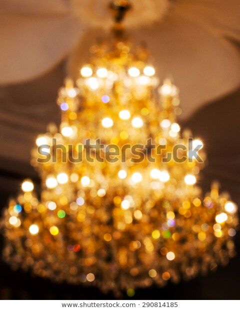 De Focused Big Crystal Chandelier Stock Photo (Edit Now) 2908141